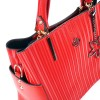 Ежедневна дамска чанта еко кожа в червен цвят