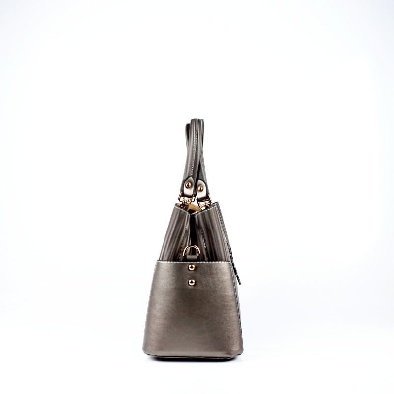 Ежедневна дамска чанта еко кожа в сив цвят