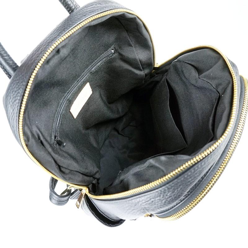 Дамска раница естествена кожа в черен цвят