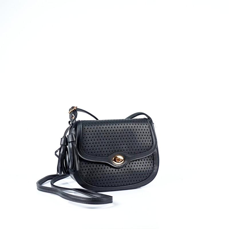 Малка дамска чанта през рамо в черно