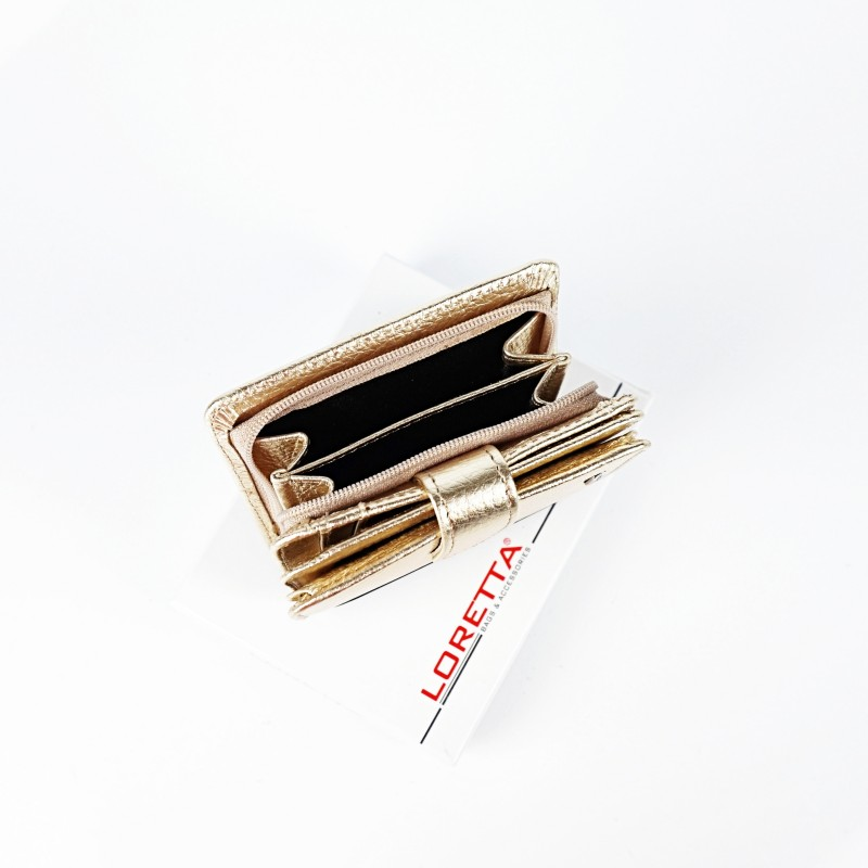 Малко сгъваемо портмоне от естествена кожа