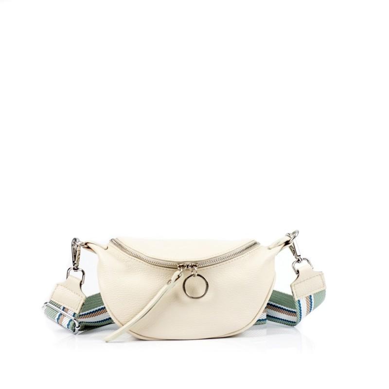 Малка дамска чанта през рамо в бежово