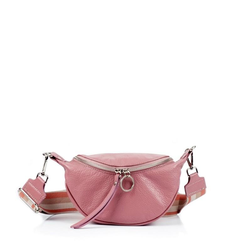Лилава дамска чанта през рамо
