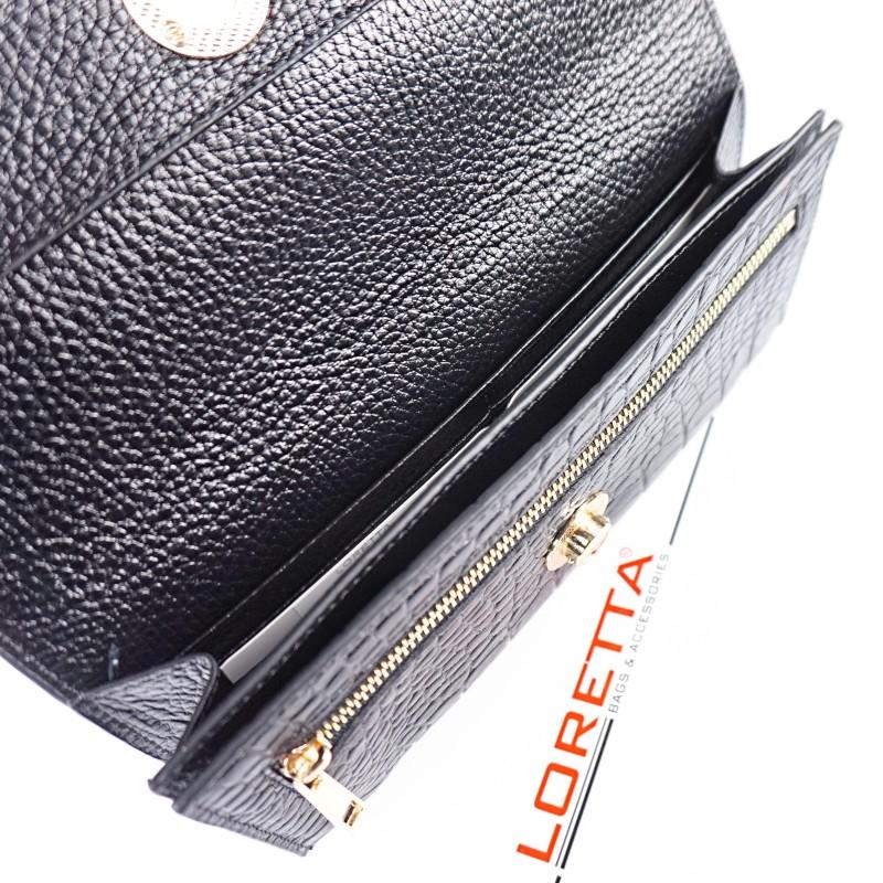 Луксозен дамски портфейл от естествена кожа