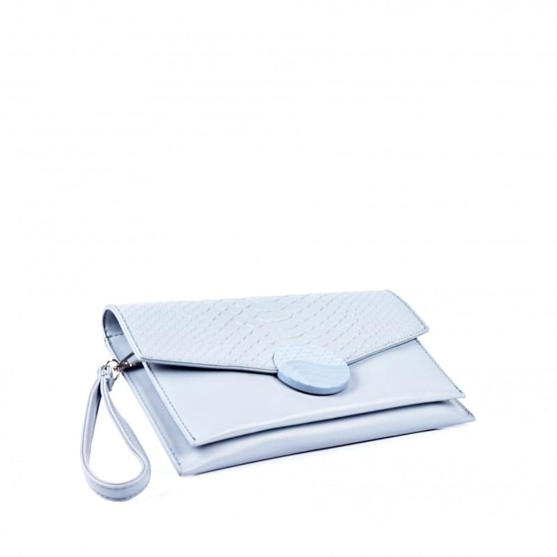 Синя дамска чанта тип плик