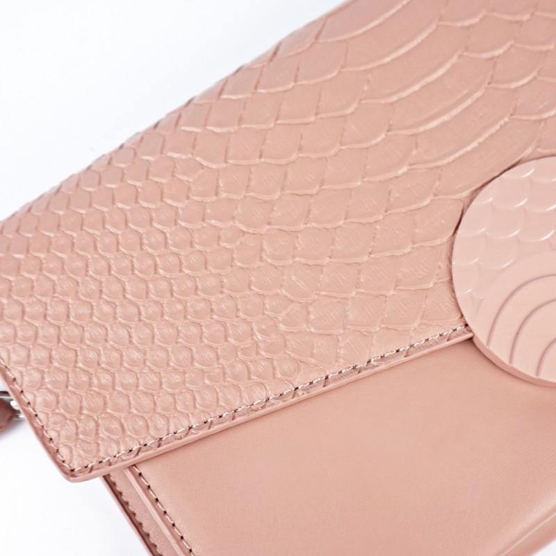 Розова дамска чанта тип плик