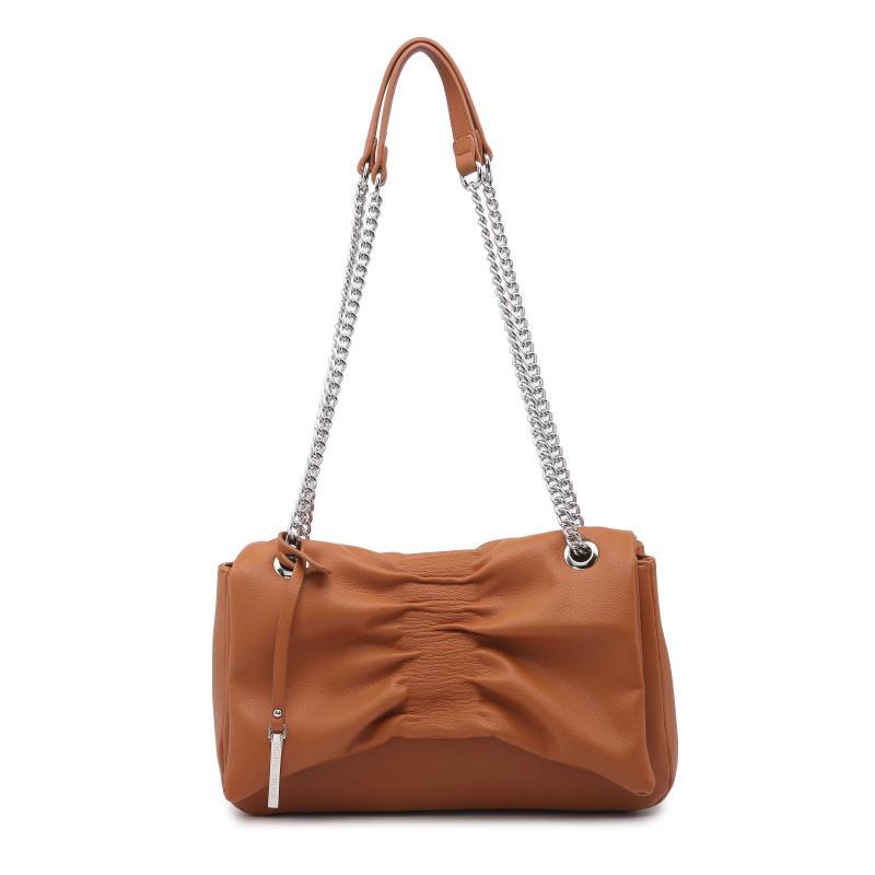 Ежедневна дамска чанта в цвят коняк