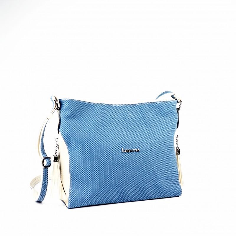Синя дамска чанта през рамо