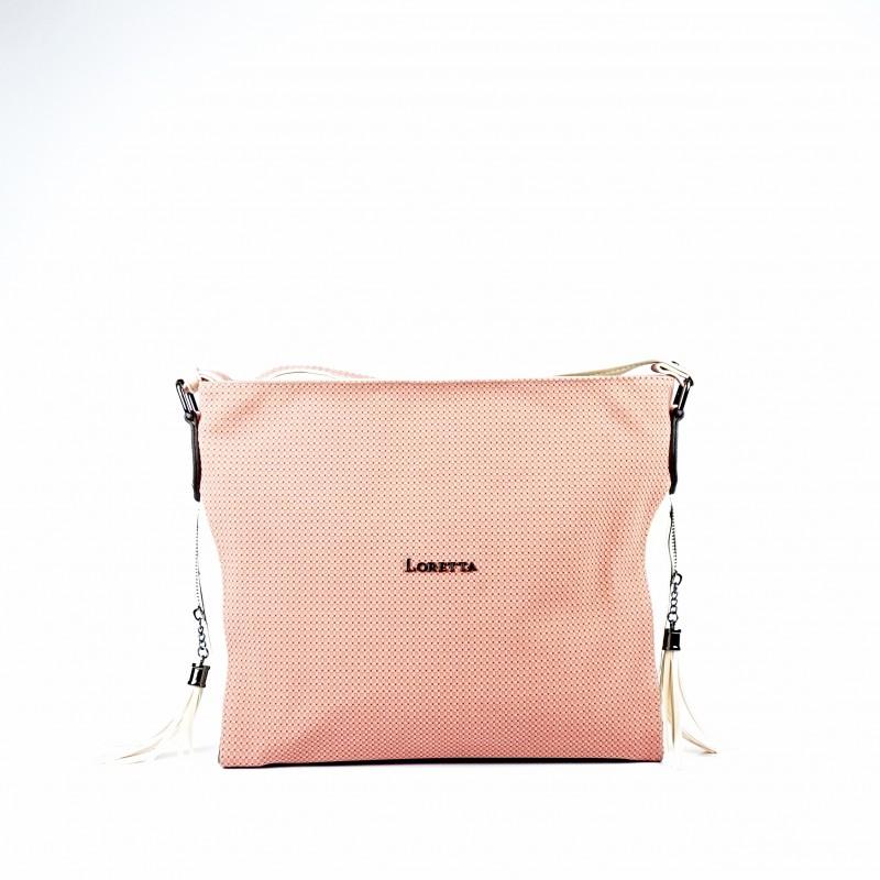 Розова дамска чанта през рамо