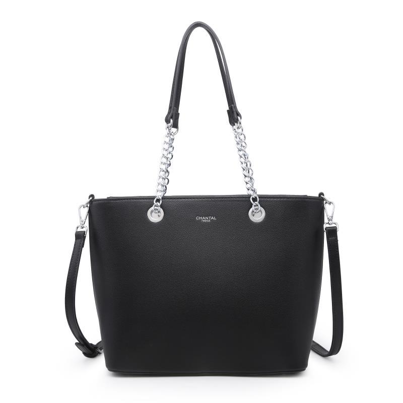 Голяма дамска чанта в черен цвят