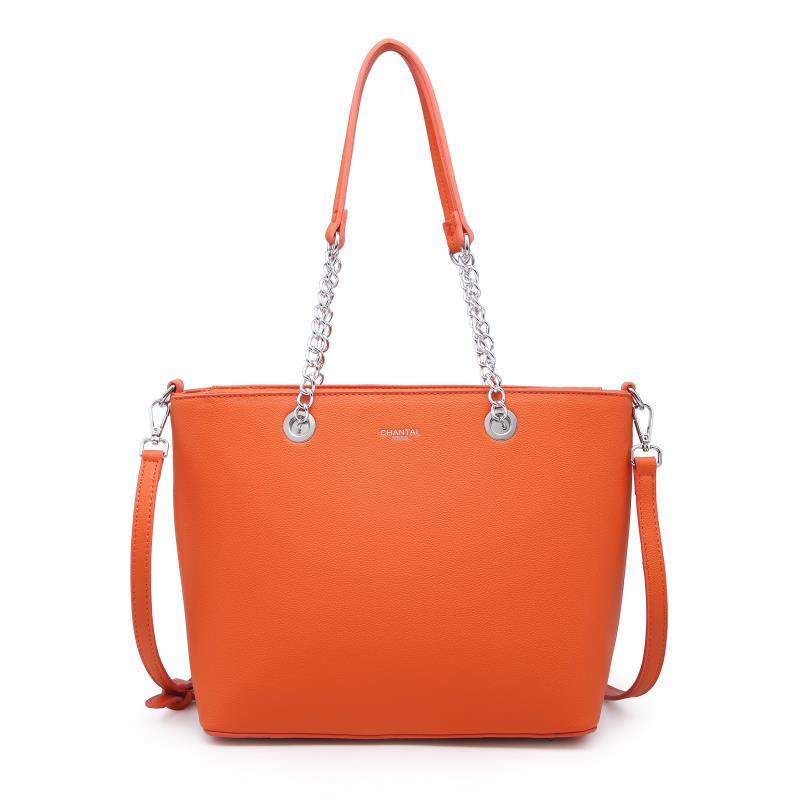 Голяма дамска чанта в оранжево