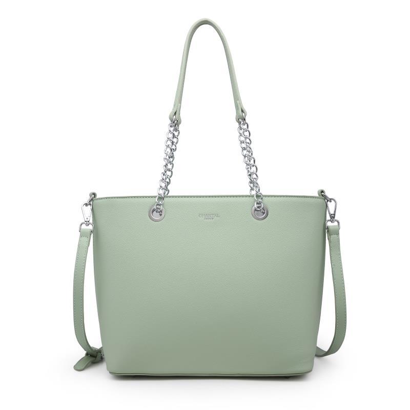 Голяма дамска чанта в зелено