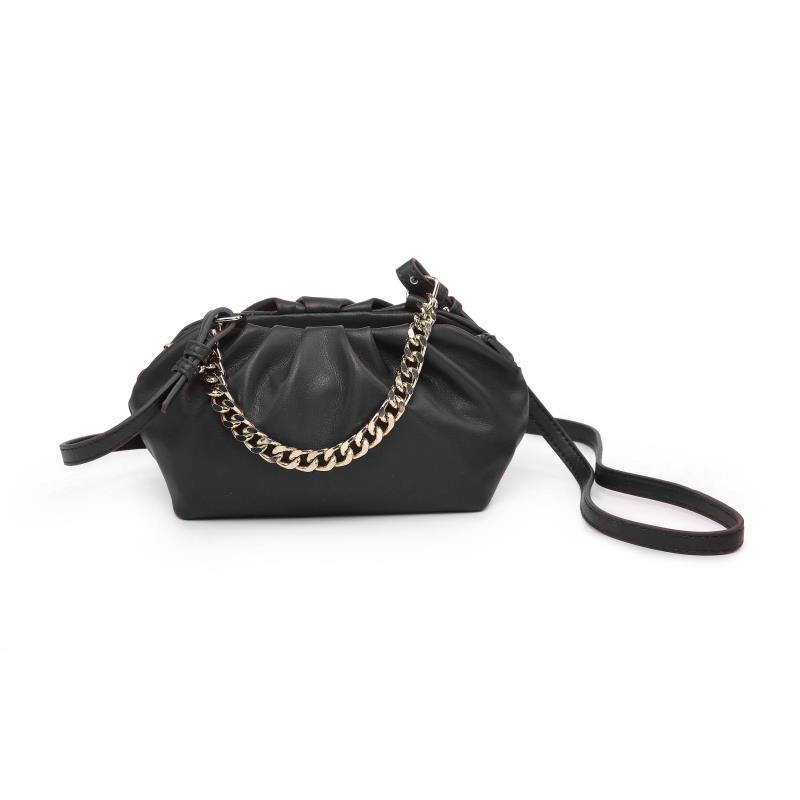 Мини дамска чанта през рамо в черно