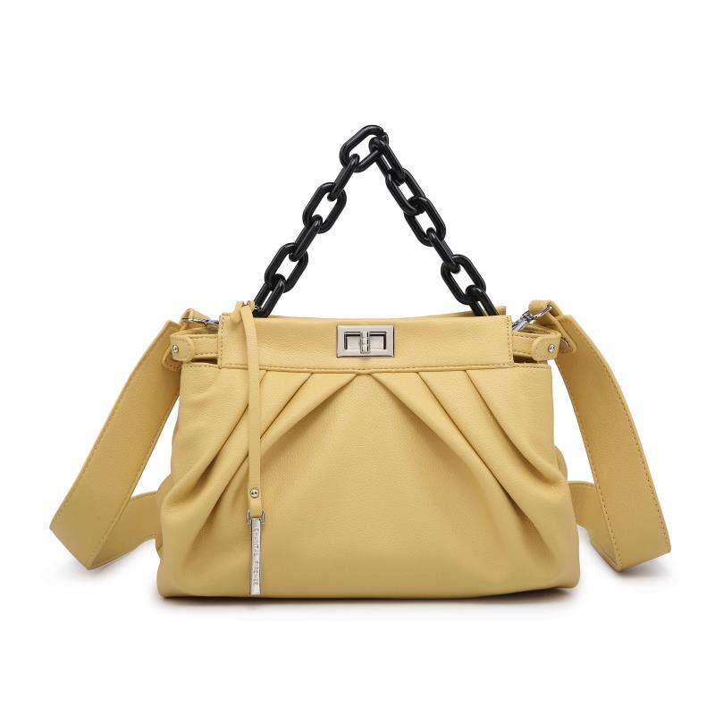 Ежедневна дамска чанта в жълто
