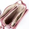 Лилава дамска чанта от естествена кожа