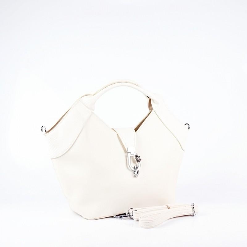 Ежедневна дамска чанта в бежов цвят