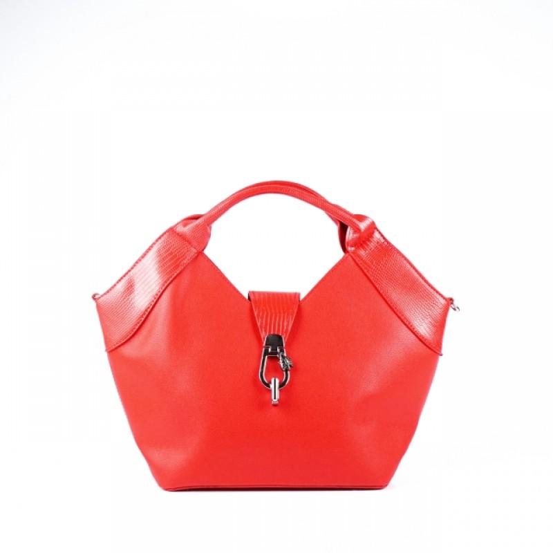 Ежедневна дамска чанта в червено