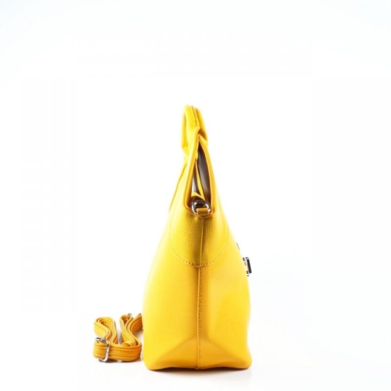 Ежедневна дамска чанта в цвят горчица