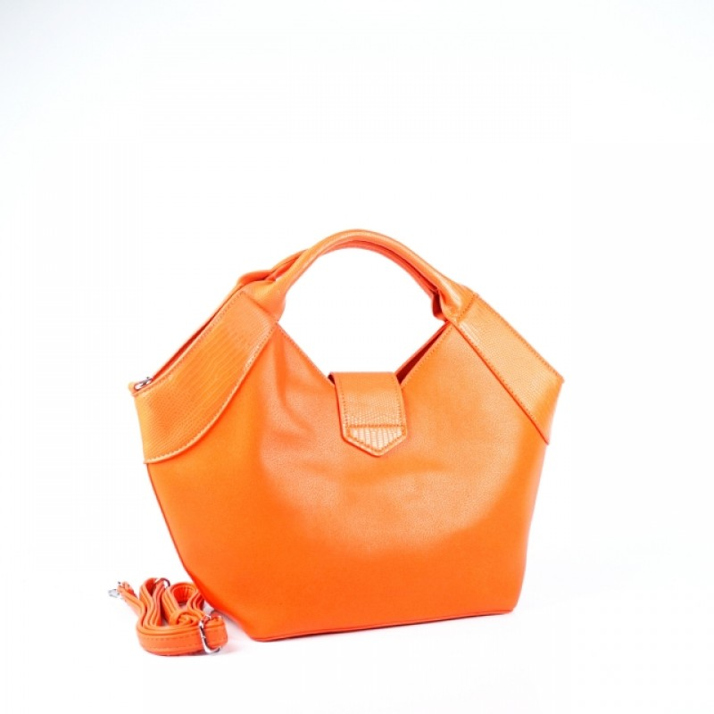 Ежедневна дамска чанта в коралов цвят