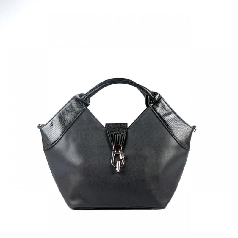 Ежедневна дамска чанта в черен цвят