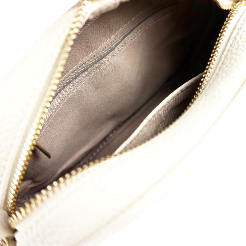 Дамска чанта през рамо в бежово