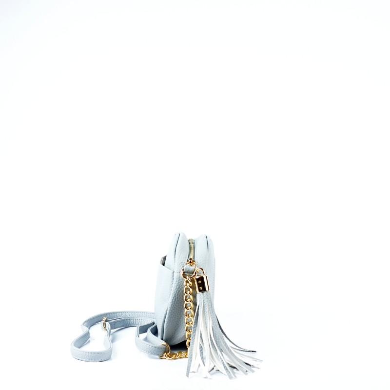 Дамска чанта през рамо в светло син цвят