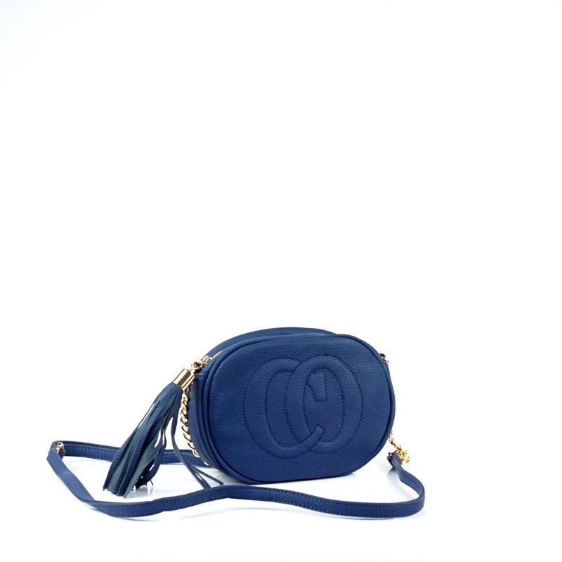 Дамска чанта през рамо в тъмно син цвят