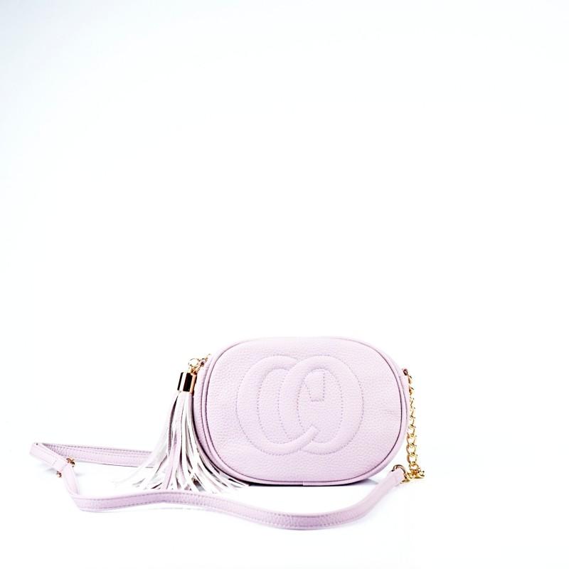 Дамска чанта през рамо в лилаво