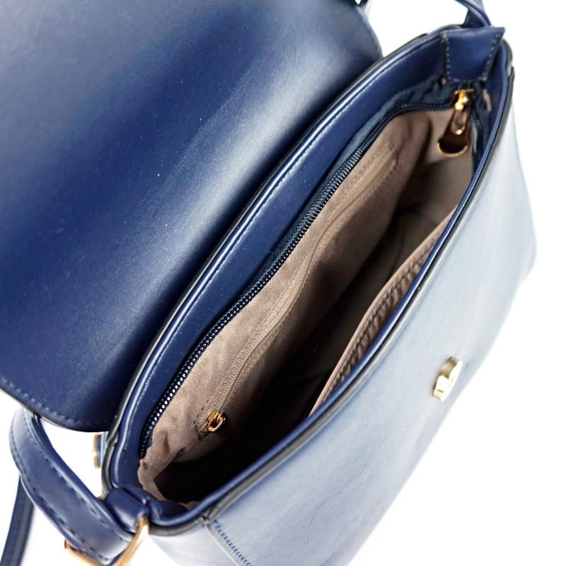 Тъмно синя дамска чанта през рамо