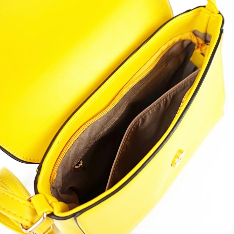 Жълта дамска чанта през рамо