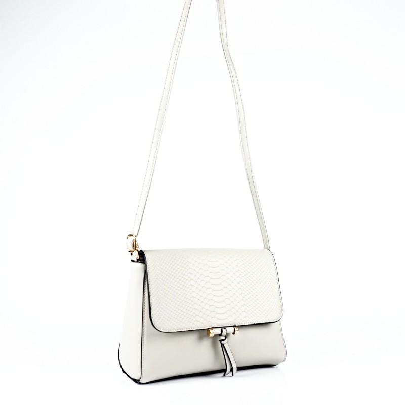Сива дамска чанта през рамо