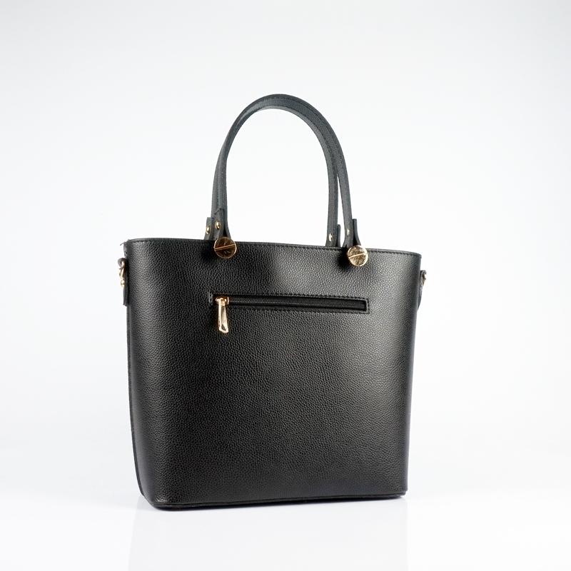 Ръчна чанта от еко кожа в черен цвят
