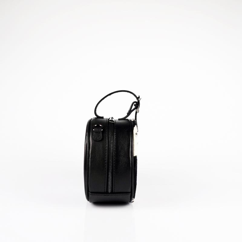 Кръгла чанта с дълга дръжка