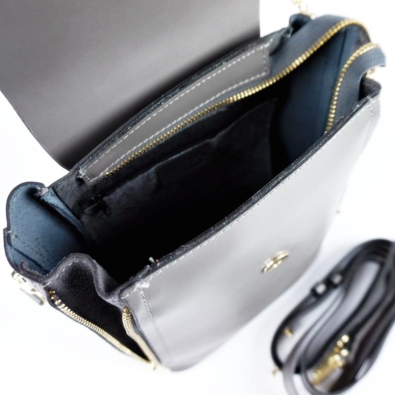 Дамска чанта-раница от естествена кожа