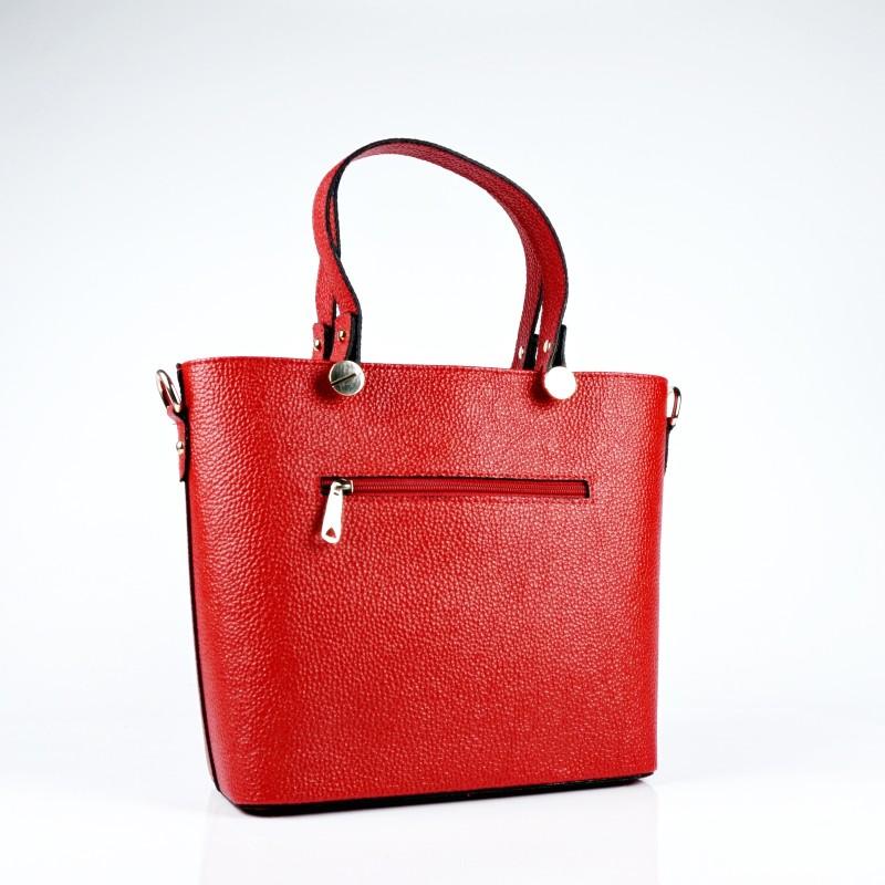 Ръчна чанта от еко кожа в червен цвят