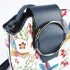 Малка чанта за през рамо в цветен десен