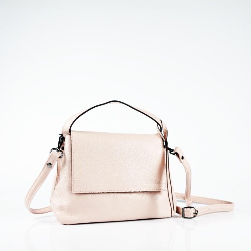 Малка чанта през рамо в цвят пудра