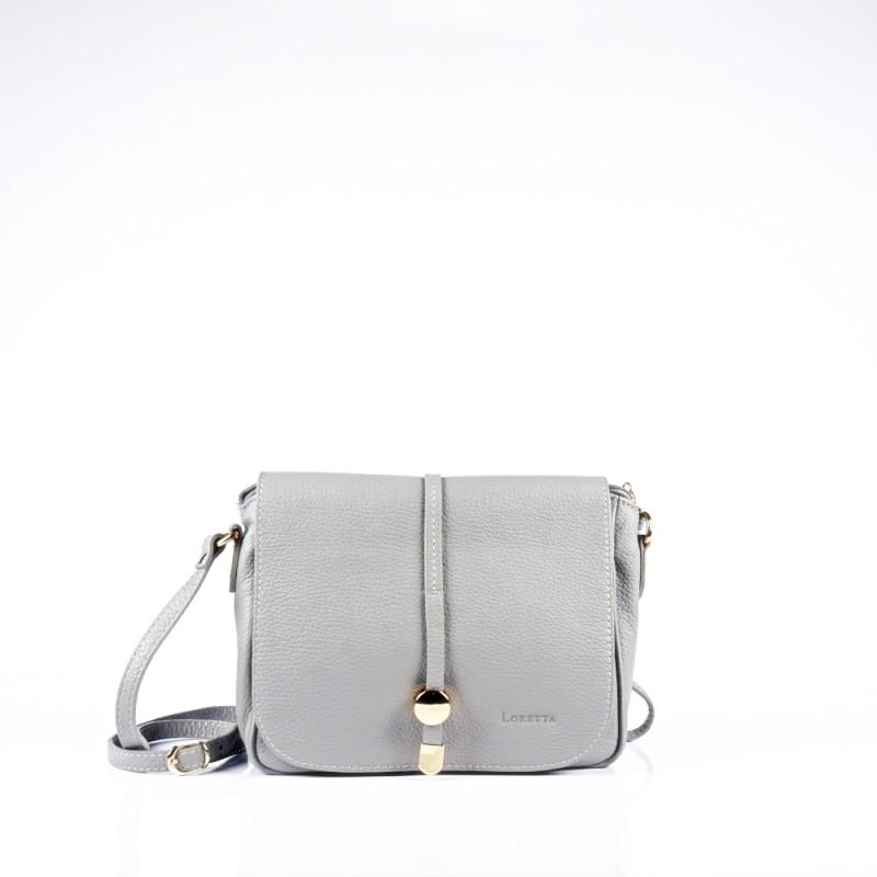 Стилна чанта през рамо в сив цвят