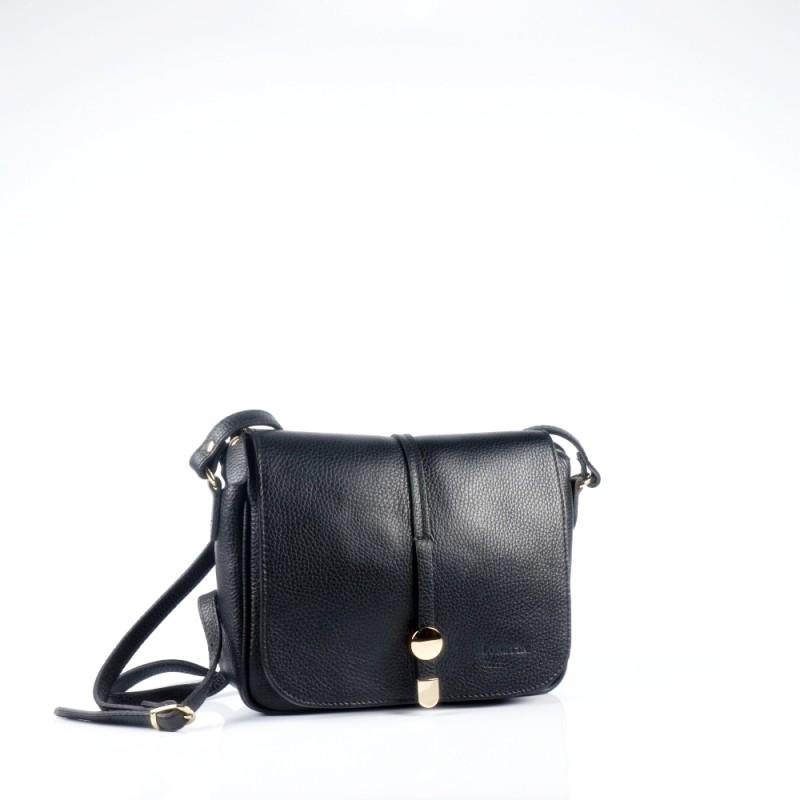 Стилна чанта през рамо в черен цвят