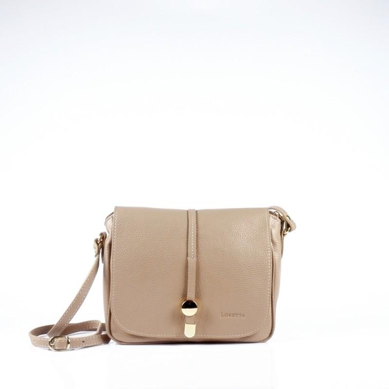 Стилна чанта през рамо в цвят капучино