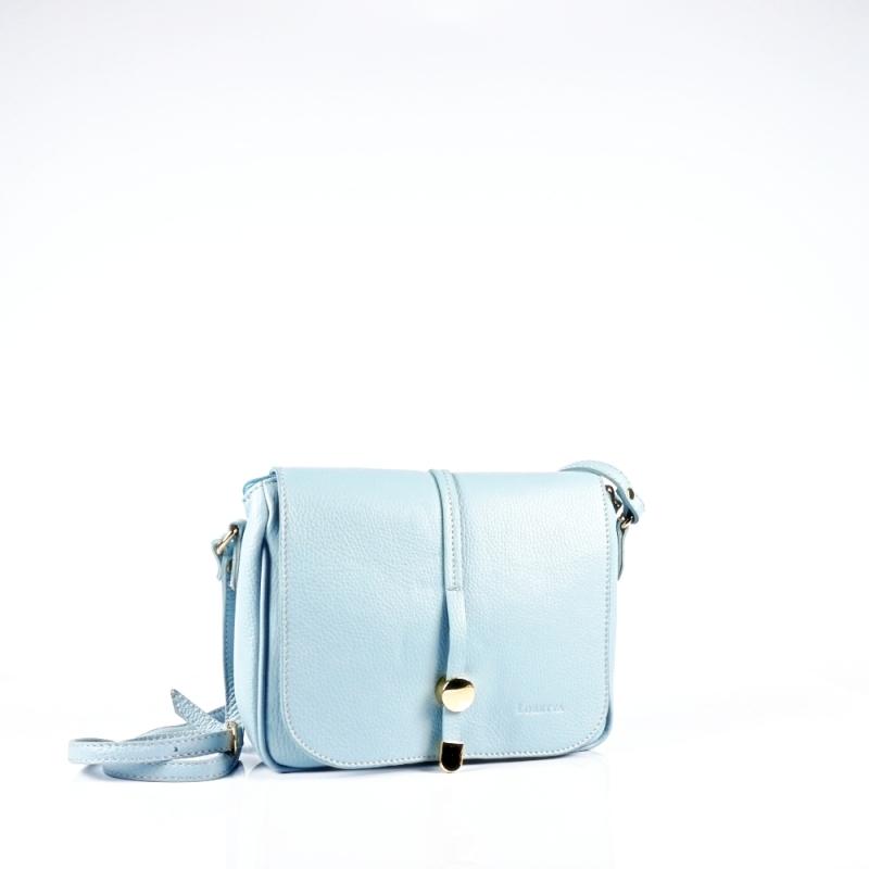 Стилна чанта през рамо в  светло синьо