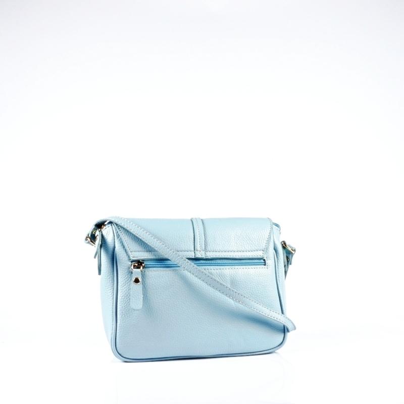 Стилна чанта през рамо с метален акцент