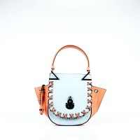 Малка дамска двуцветна чанта
