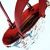 Ръчна чанта в цветен десен