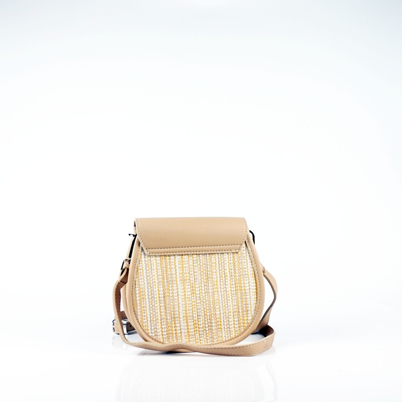 Плетена  дамска чанта през рамо