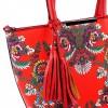 Ежедневна дамска чанта за рамо в цветен десен
