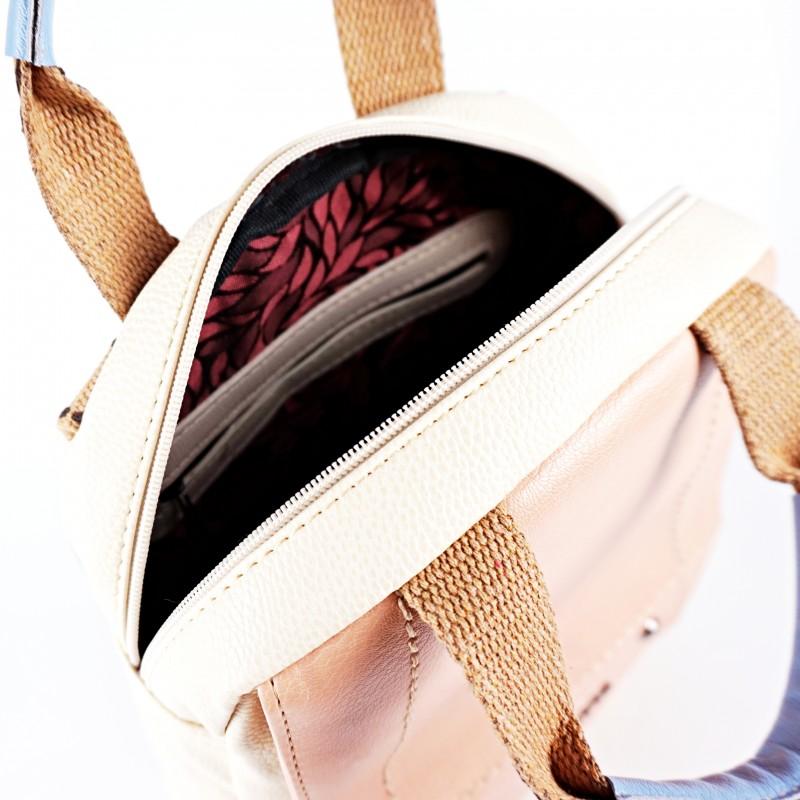 Дамска раница с текстилни дръжки