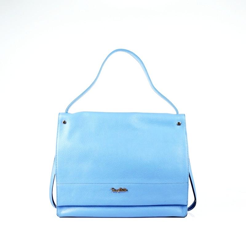 Елегантна дамска чанта от естествена кожа