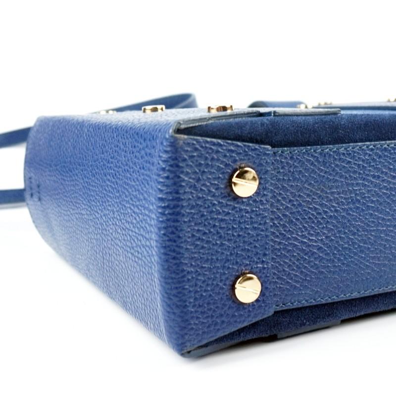 Дамска чанта от естествена кожа и велур