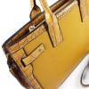 Елегантна дамска чанта от еко кожа в цвят горчица